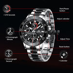 Load image into Gallery viewer, 8087M | Quartz Men Watch | Stainless Steel Band-megalith watch