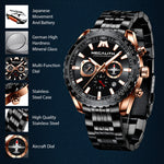 Load image into Gallery viewer, 8212M | Quartz Men Watch | Stainless Steel Band-megalith watch