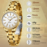 Load image into Gallery viewer, 8114C | Quartz Women Watch | Stainless steel Band-megalith watch