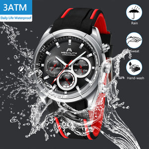 8049M | Quartz Men Watch | Rubber Band-megalith watch