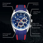 Load image into Gallery viewer, 8049M | Quartz Men Watch | Rubber Band-megalith watch