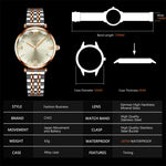 Load image into Gallery viewer, 8095C | Quartz Women Watch | Stainless steel Band-megalith watch