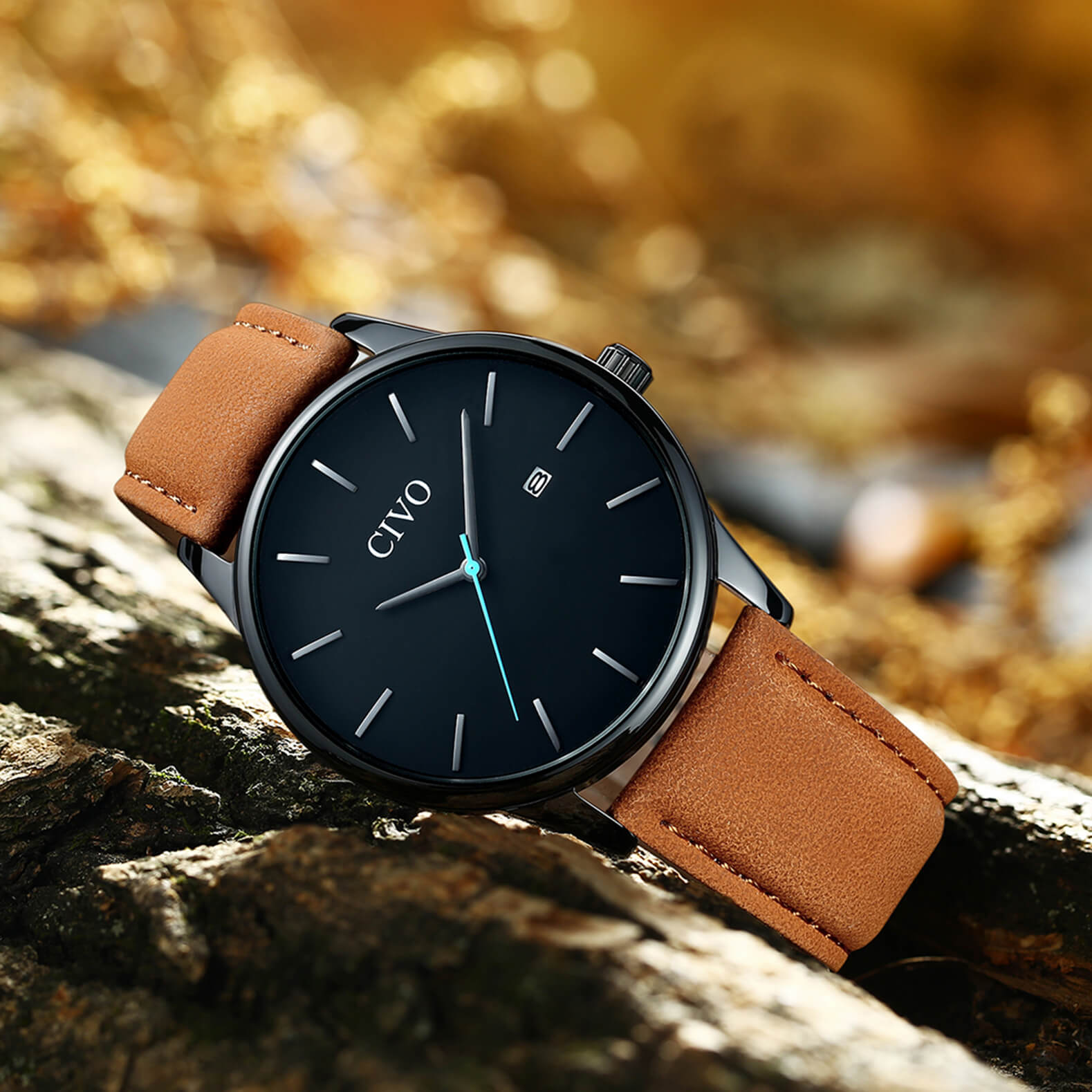 8082C | Quartz Men Watch | Leather Band-megalith watch