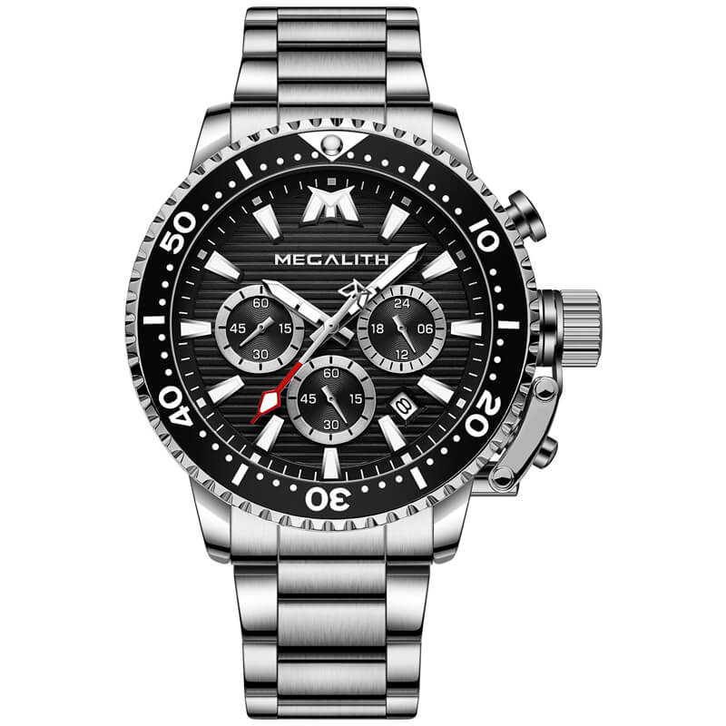 8216M | Quartz Men Watch | Stainless Steel Band-megalith watch