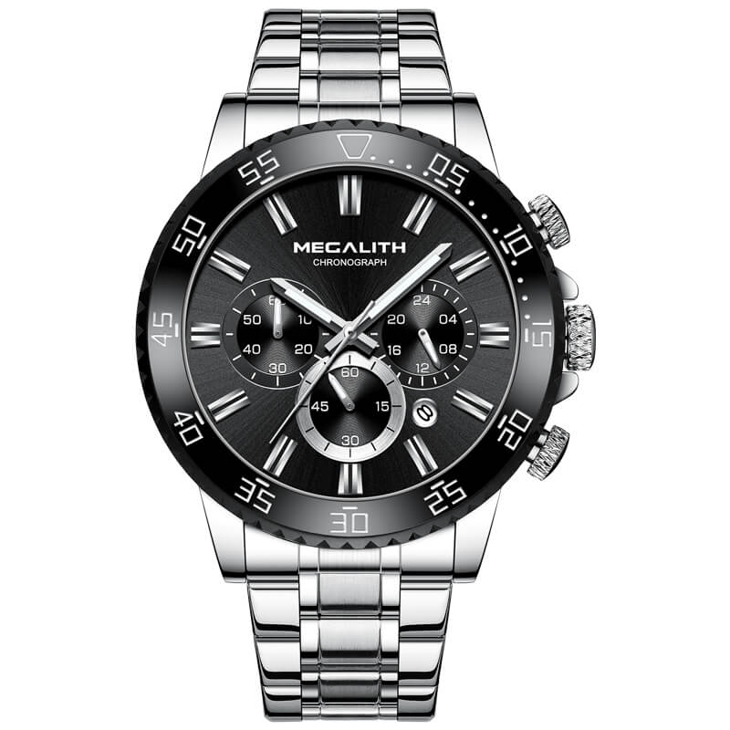 8227M | Quartz Men Watch | Stainless Steel Band-megalith watch