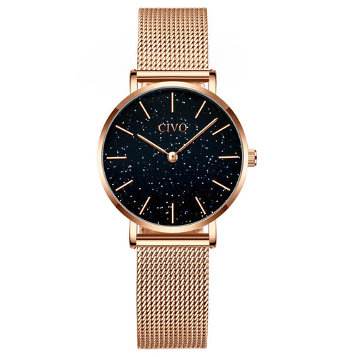 8084C | Quartz Women Watch | Mesh Band