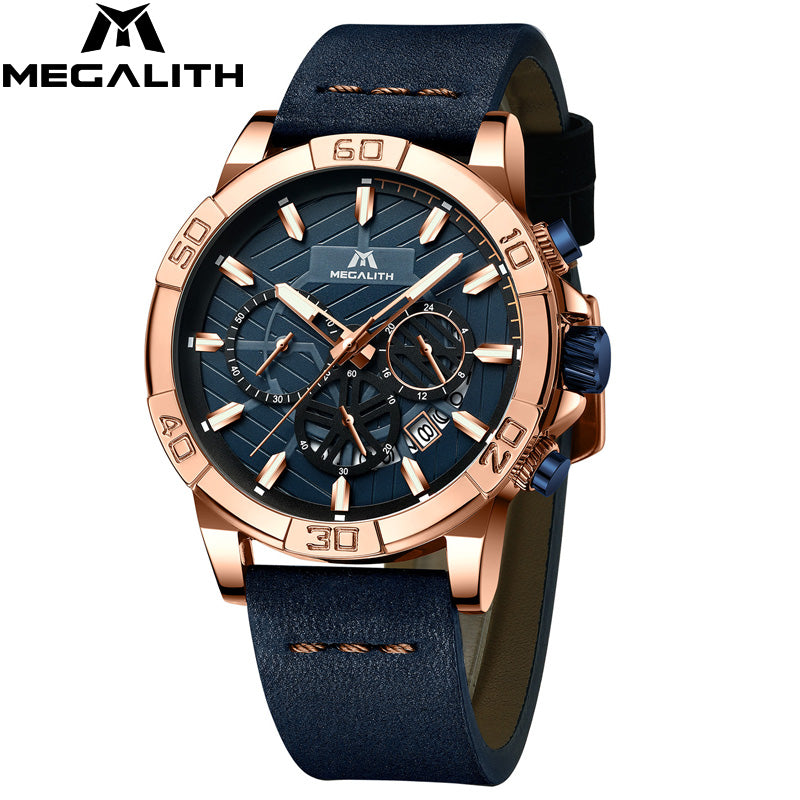 8086M | Quartz Men Watch | Leather Band-megalith watch