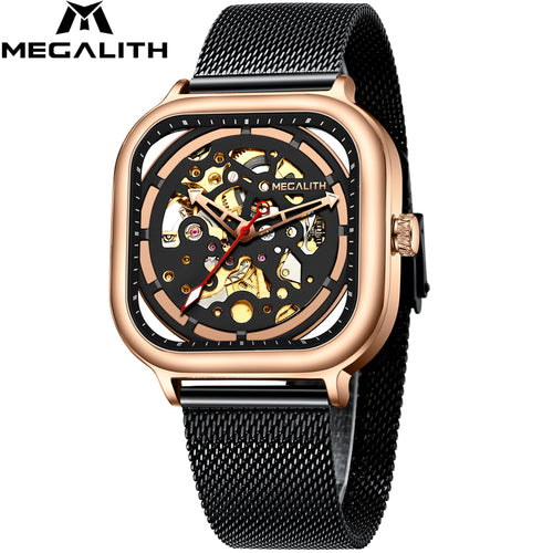 8202M | Mechanical Men Watch | Mesh Band-megalith watch