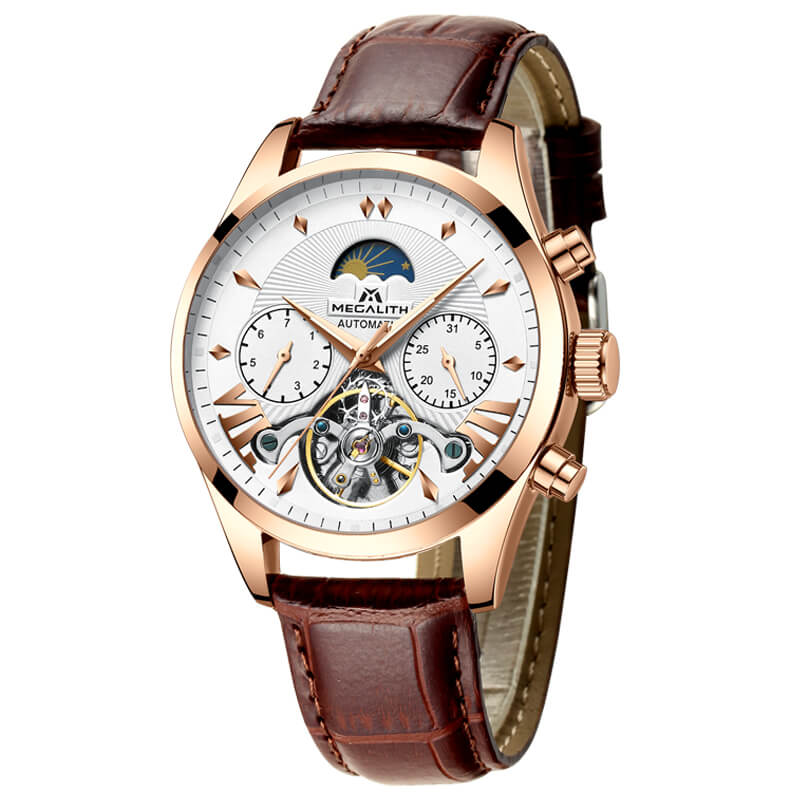 8092M | Mechanical Men Watch | Stainless Steel Band-megalith watch