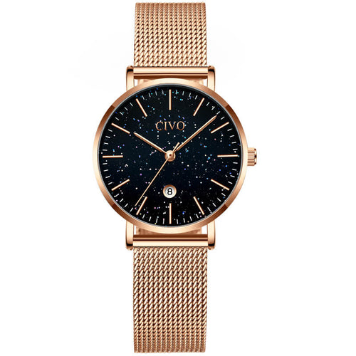 8062C | Quartz Women Watch | Mesh Band