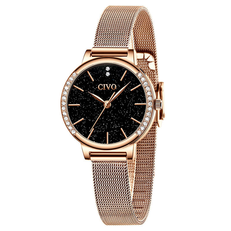 8115C | Quartz Women Watch | Mesh Band-megalith watch