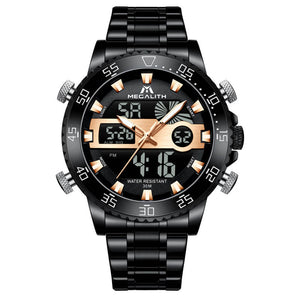 8222M | Quartz Men Watch | Stainless Steel Band-megalith watch