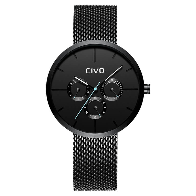 8022C | Quartz Men Watch | Mesh Band-megalith watch