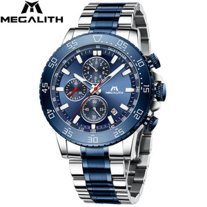 8087M | Quartz Men Watch | Stainless Steel Band-megalith watch