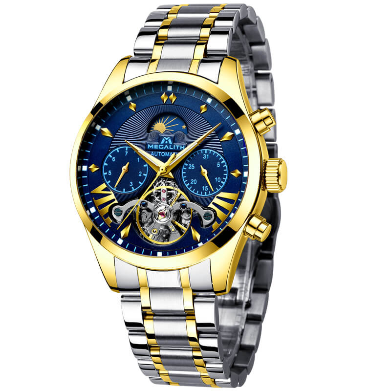 8092M | Mechanical Men Watch | Stainless Steel Band
