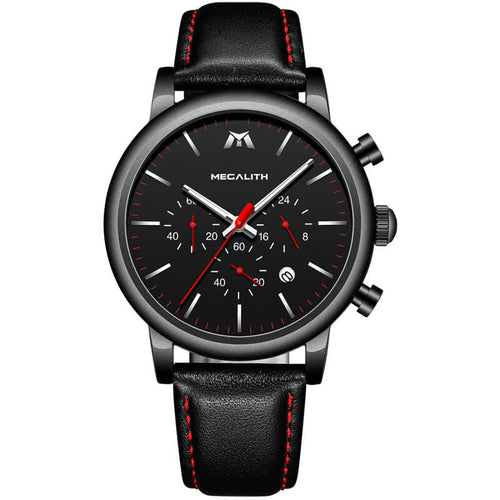8040M | Quartz Men Watch | Leather Band