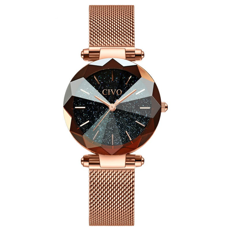 8074C | Quartz Women Watch | Mesh Band-megalith watch