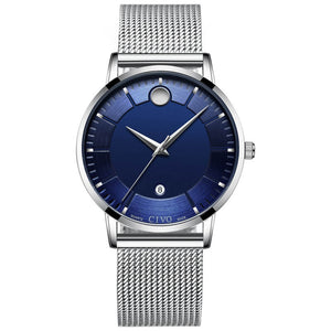 8077C | Quartz Men Watch | Mesh Band