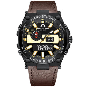 8230M | Quartz Men Watch | Leather Band-megalith watch