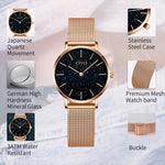 Load image into Gallery viewer, 8084C | Quartz Women Watch | Mesh Band-megalith watch