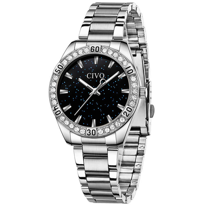 8118C | Quartz Women Watch | Stainless steel Band-megalith watch