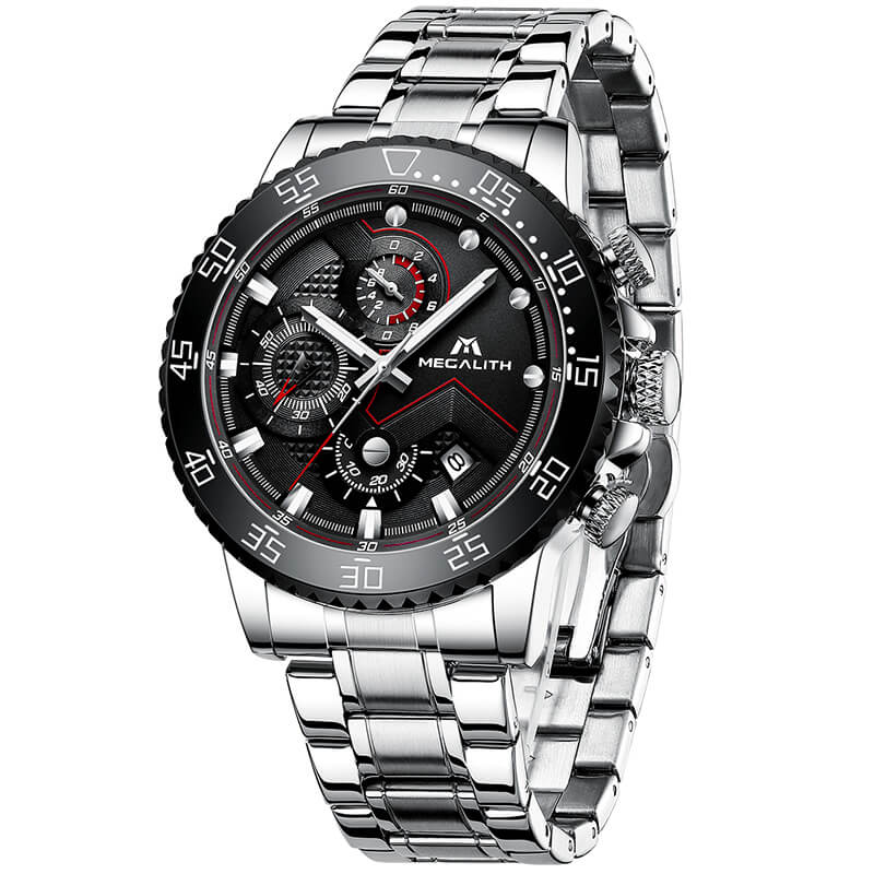 8228M | Quartz Men Watch | Stainless Steel Band-megalith watch