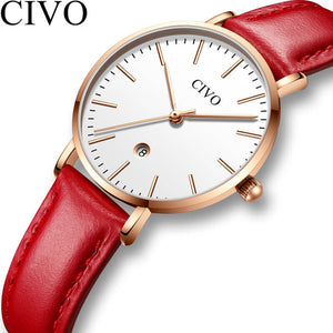 8062C | Quartz Women Watch | Leather Band-megalith watch