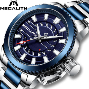 8211M | Quartz Men Watch | Stainless Steel Band-megalith watch