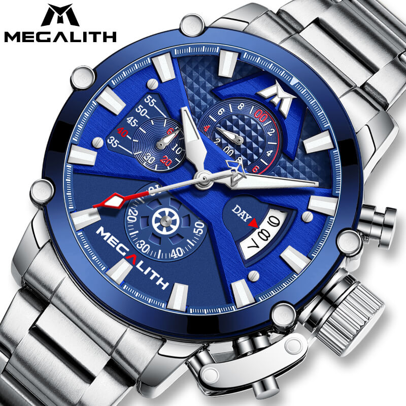8219M | Quartz Men Watch | Stainless Steel Band-megalith watch