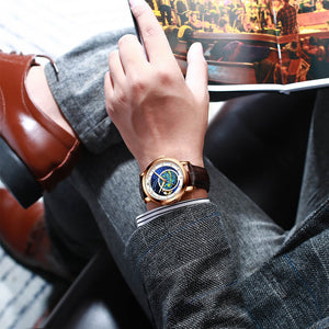 8213M | Quartz Men Watch | Leather Band-megalith watch
