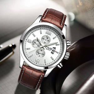 9202C | Quartz Men Watch | Leather Band-megalith watch