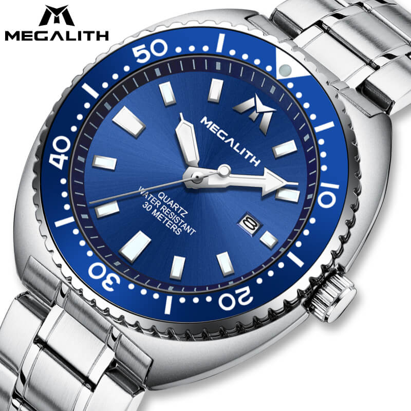 8604M | Quartz Men Watch | Stainless Steel Band-megalith watch