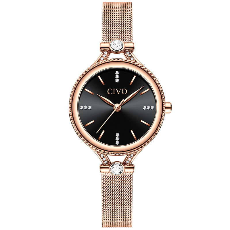 8121C | Quartz Women Watch | Mesh Band-megalith watch