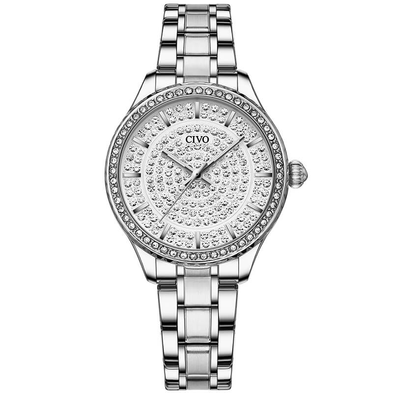 8113C | Quartz Women Watch | Stainless steel Band-megalith watch