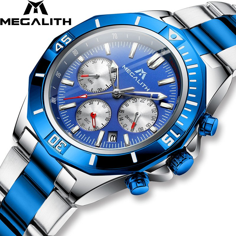 8206M | Quartz Men Watch | Stainless Steel Band-megalith watch