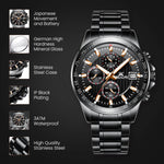 Load image into Gallery viewer, 8033M | Quartz Men Watch | Stainless Steel Band-megalith watch