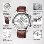 Load image into Gallery viewer, 9202C | Quartz Men Watch | Leather Band-megalith watch