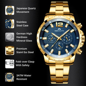 8048M | Quartz Men Watch | Stainless Steel Band-megalith watch