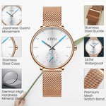 Load image into Gallery viewer, 0124C | Quartz Women Watch | Mesh Band-megalith watch