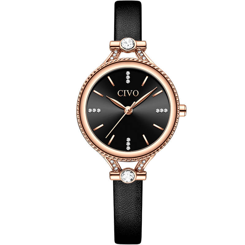 8120C | Quartz Women Watch | Leather Band-megalith watch