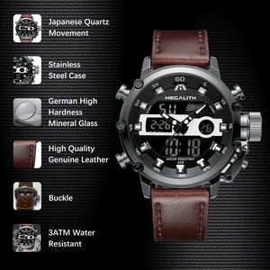 8051M | Quartz Men Watch | Leather Band