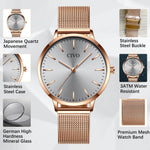 Load image into Gallery viewer, 8060C | Quartz Women Watch | Mesh Band-megalith watch