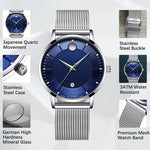Load image into Gallery viewer, 8077C | Quartz Men Watch | Mesh Band-megalith watch