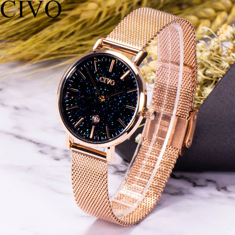 8062C | Quartz Women Watch | Mesh Band-megalith watch
