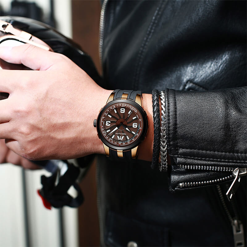 8201M | Quartz Men Watch | Rubber Band-megalith watch