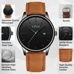 Load image into Gallery viewer, 8082C | Quartz Men Watch | Leather Band-megalith watch