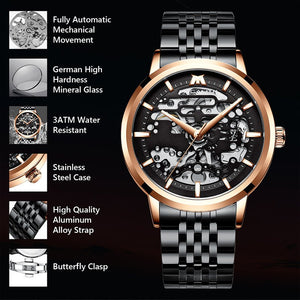 8204M | Mechanical Men Watch | Stainless Steel Band-megalith watch