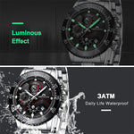 Load image into Gallery viewer, 8228M | Quartz Men Watch | Stainless Steel Band-megalith watch