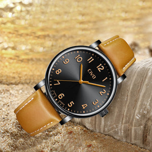 2088C | Quartz Men Watch | Leather Band-megalith watch
