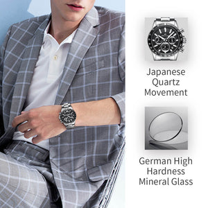 0089M | Quartz Men Watch | Stainless Steel Band-megalith watch